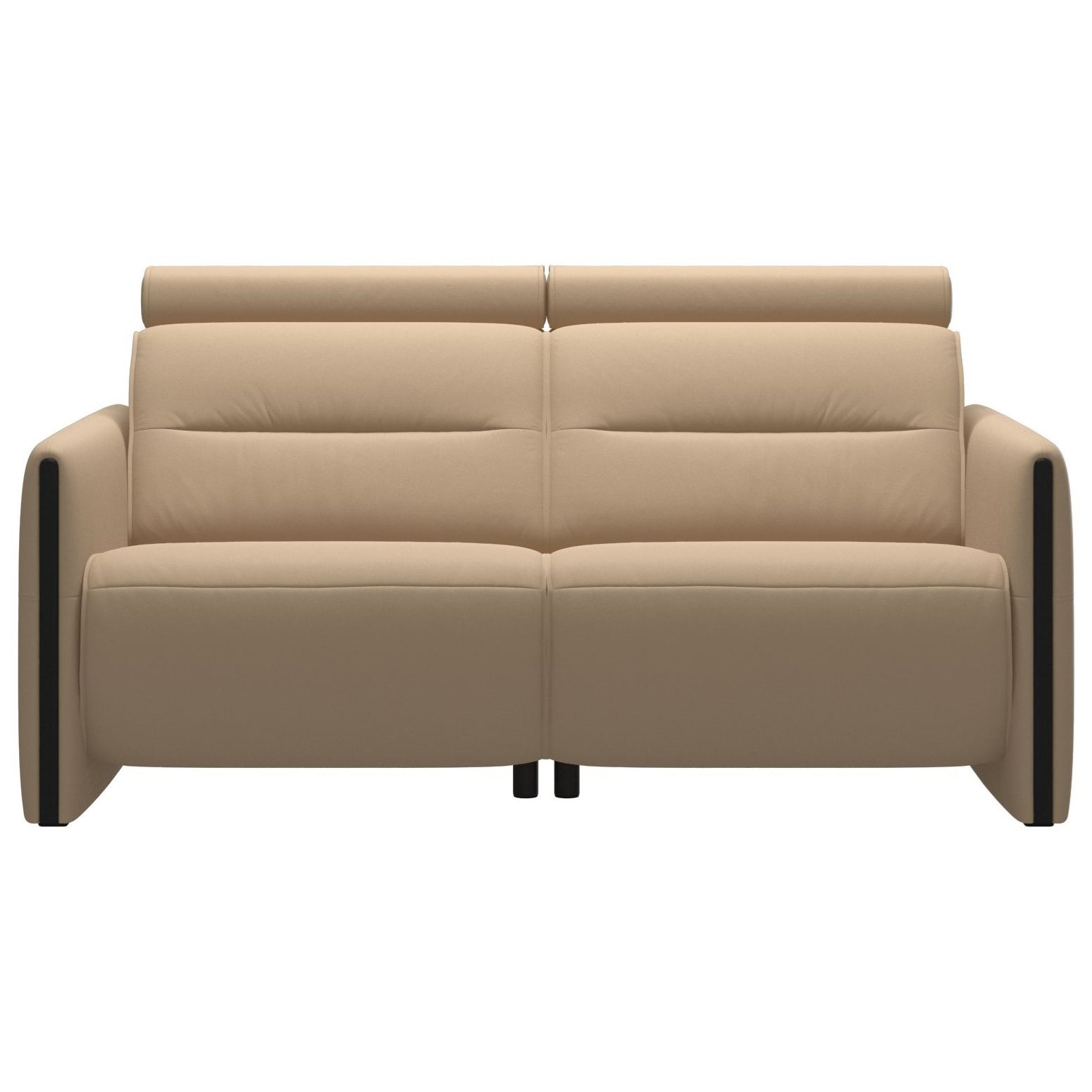 Emily Power 2-Seat Sofa with Wood Arms by Stressless at Bennett's Furniture and Mattresses