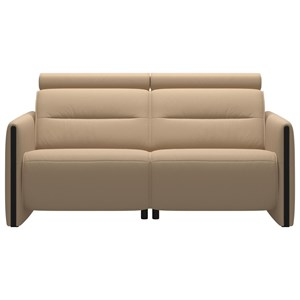 Power 2-Seat Sofa with Wood Arms