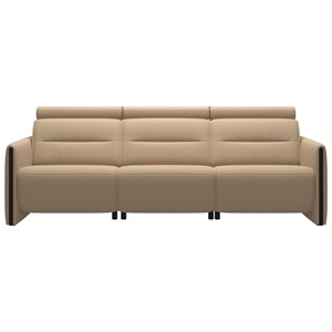 Power 3-Seat Sofa with Wood Arms