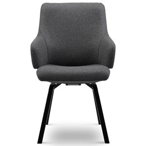 Large Low-Back Dining Arm Chair
