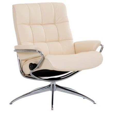 London Low Back Recliner with Standard Star Base by Stressless at Virginia Furniture Market