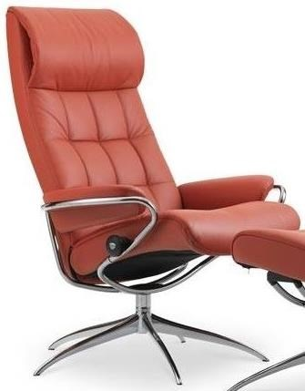 London High Back Recliner with High Star Base by Stressless at Jordan's Home Furnishings