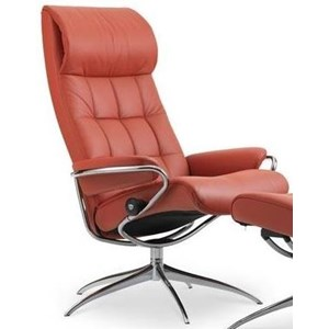 High Back Recliner with High Star Base