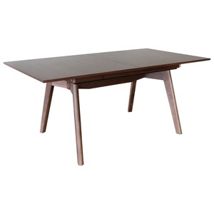 Dining Table with T100 Leg and Integrated Leaf