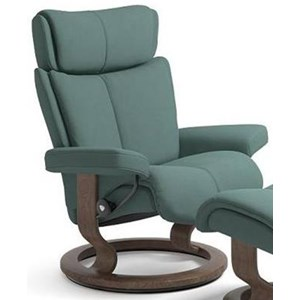 Medium Reclining Chair with Classic Base