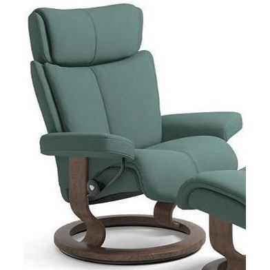 Magic Small Reclining Chair with Classic Base by Stressless at Dunk & Bright Furniture