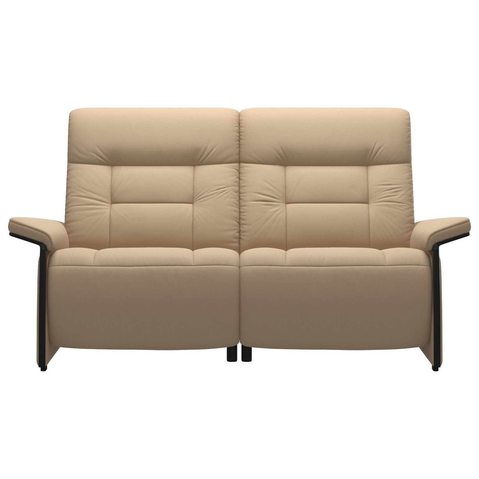 Mary Reclining 2 Seat Loveseat with Wood Arms by Stressless at Fashion Furniture
