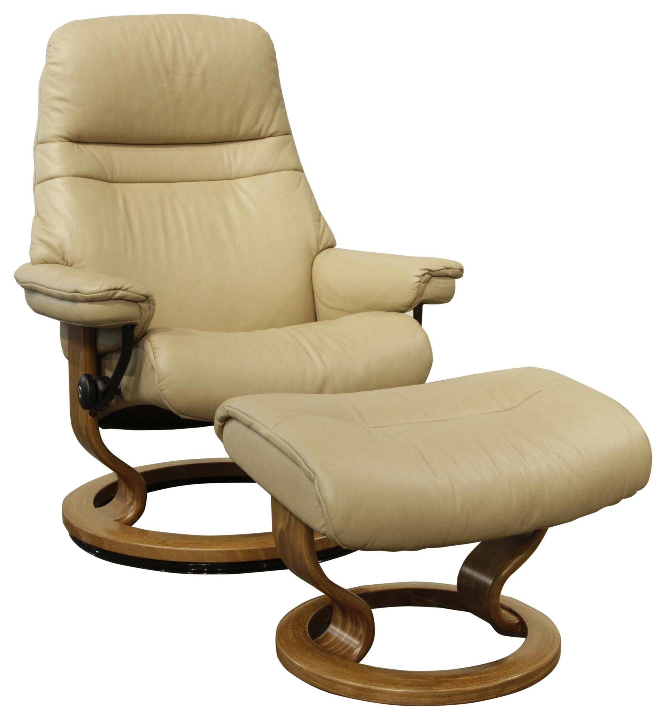 Sunrise Small Stressless Chair & Ottoman by Stressless at HomeWorld Furniture