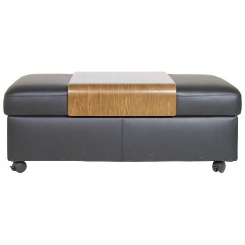 Wave Double Ottoman & Table by Stressless at HomeWorld Furniture