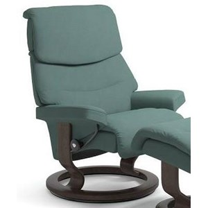 Large Reclining Chair with Classic Base