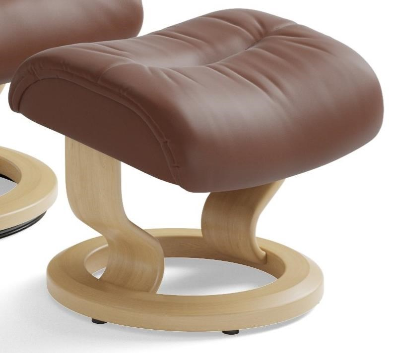 Live Classic Base Ottoman by Stressless at Virginia Furniture Market