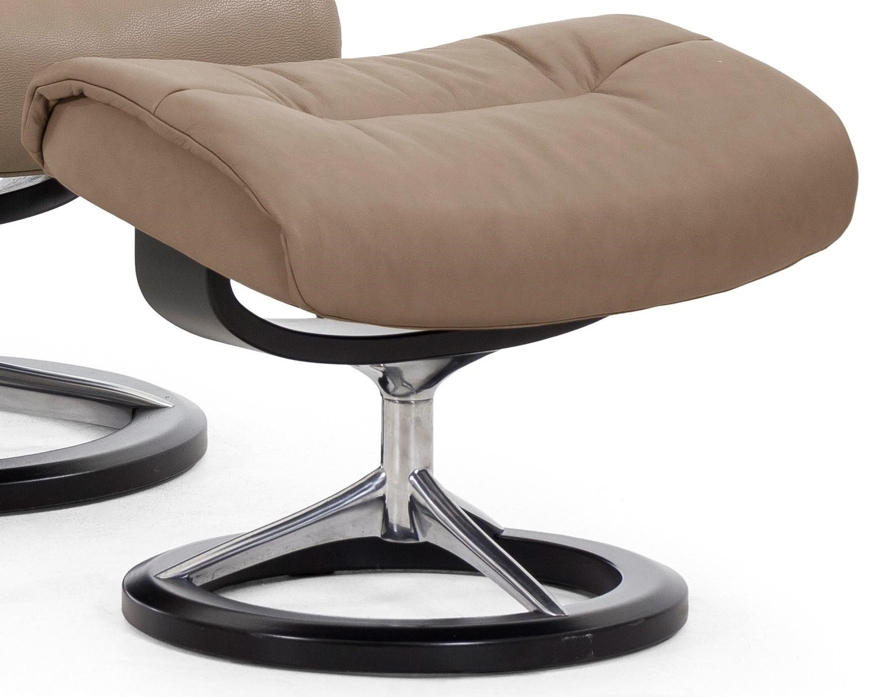 Live Signature Base Ottoman by Stressless at Virginia Furniture Market