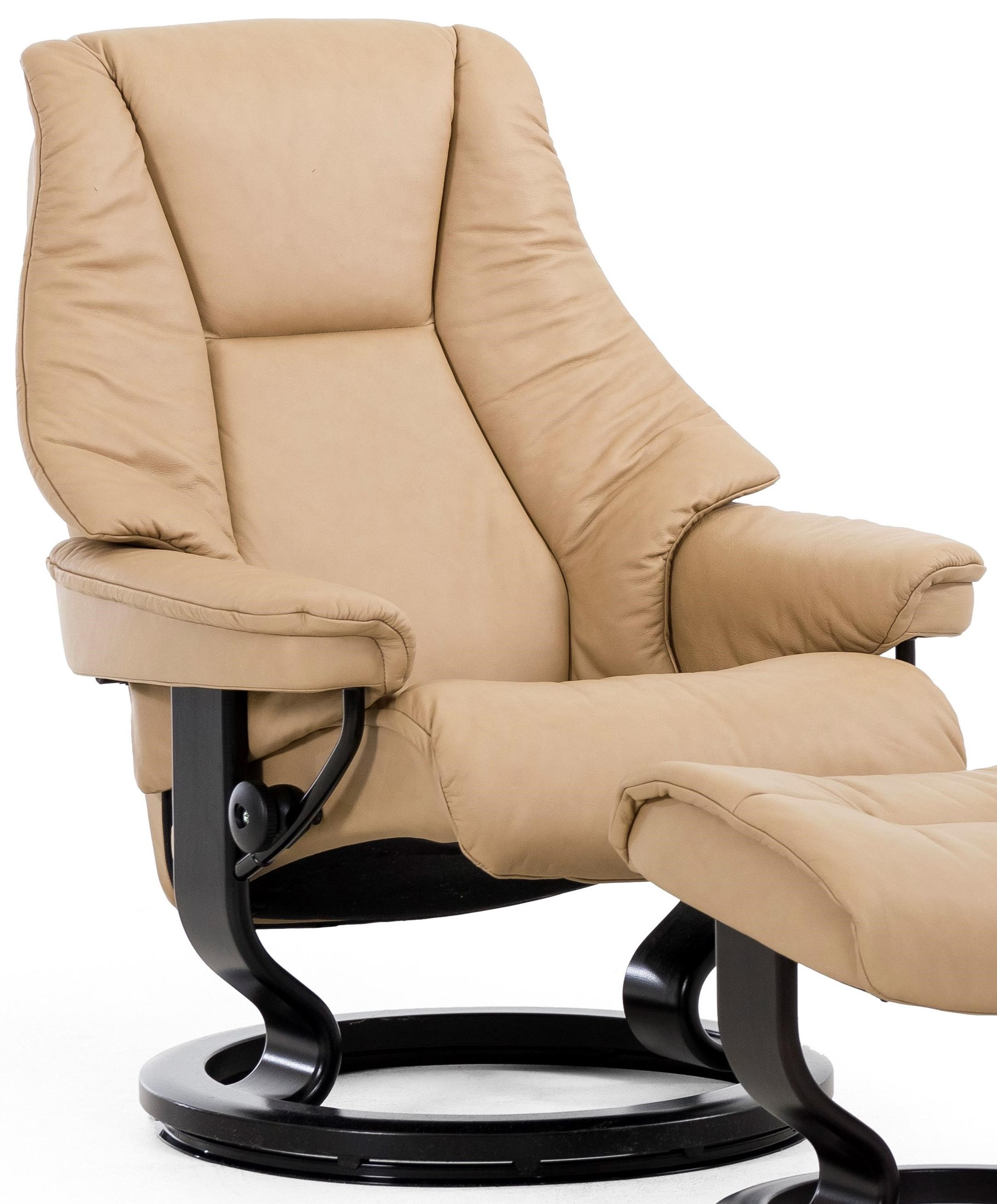 Live Large Reclining Chair with Classic Base by Stressless at Jordan's Home Furnishings