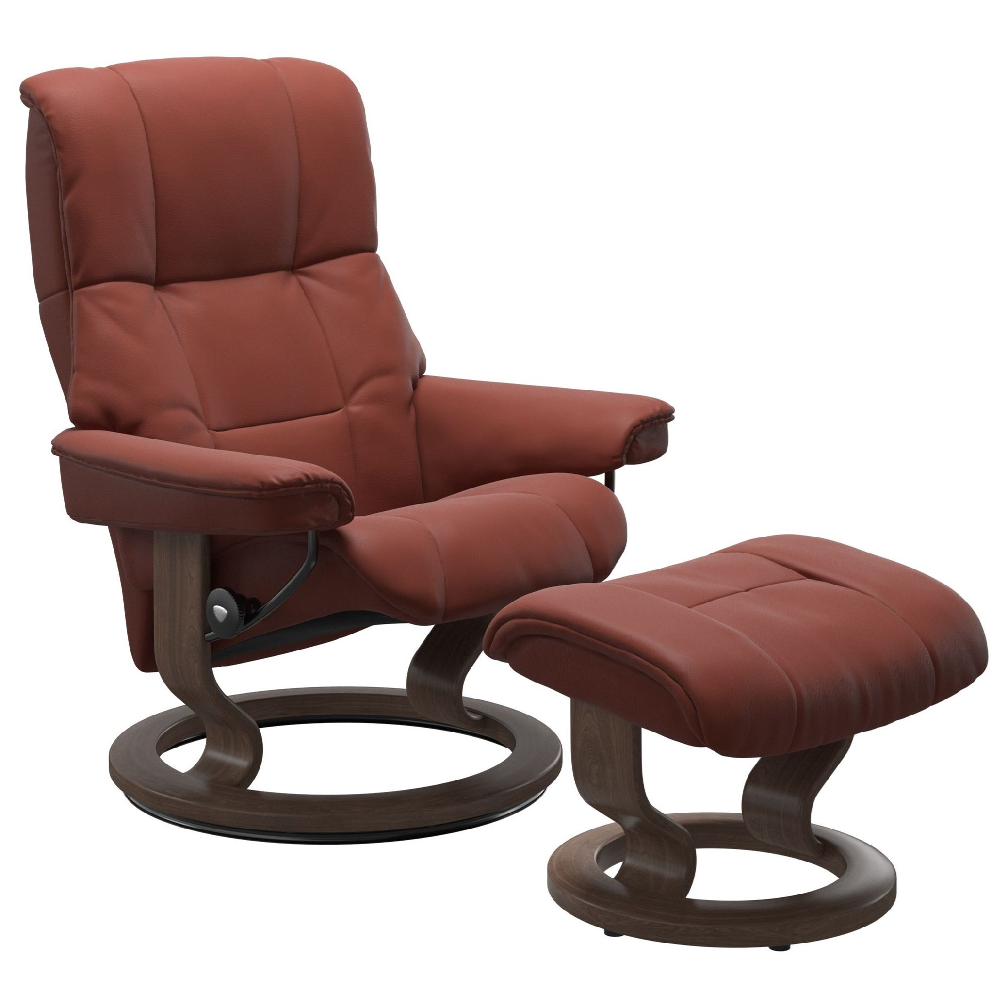 Mayfair Small Chair & Ottoman with Classic Base by Stressless at Bennett's Furniture and Mattresses