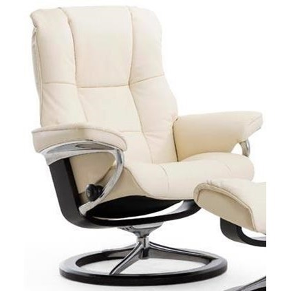 Mayfair Small Reclining Chair with Signature Base by Stressless at Jordan's Home Furnishings