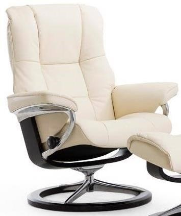 Mayfair Medium Reclining Chair with Signature Base by Stressless at Dunk & Bright Furniture