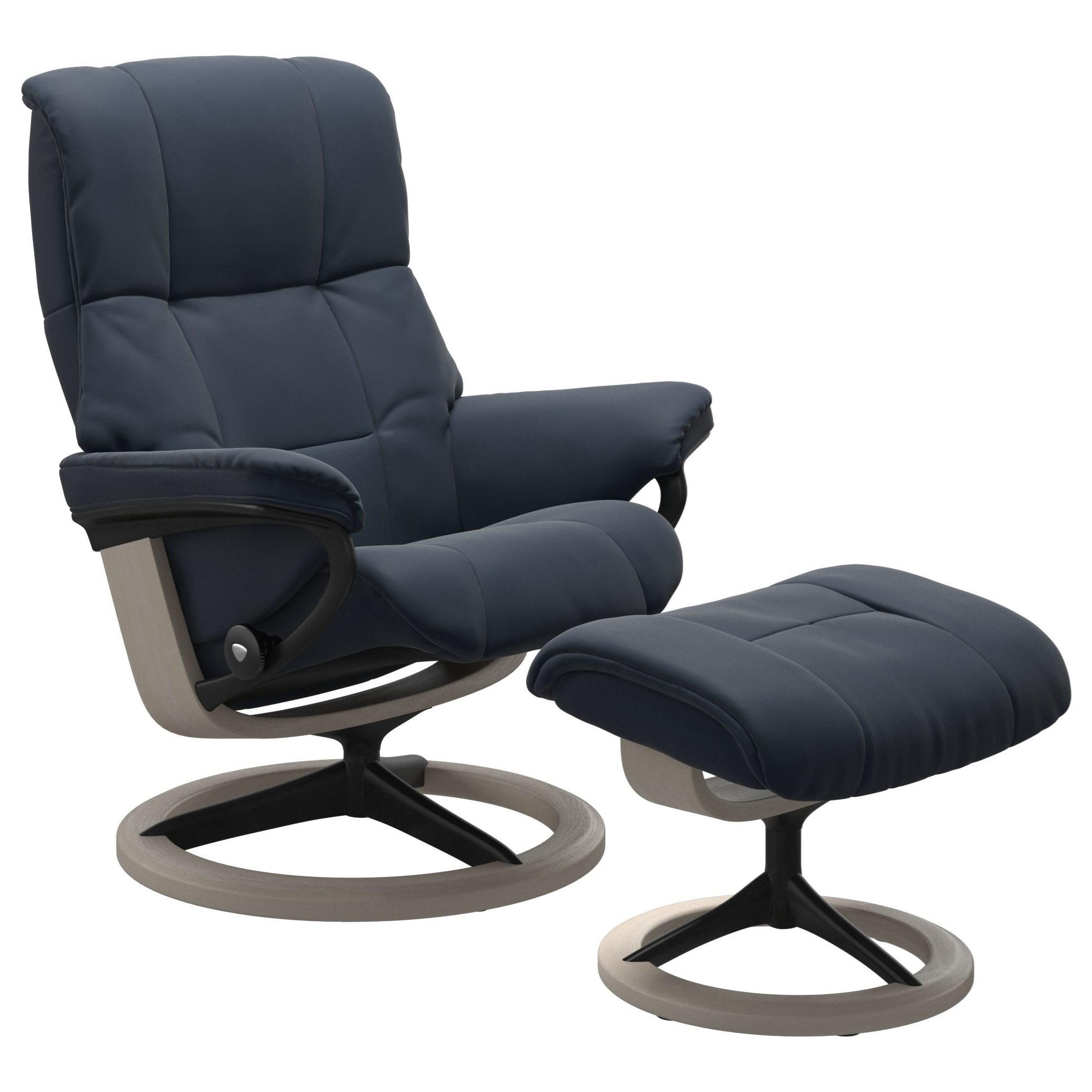 Mayfair Medium Reclining Chair and Ottoman by Stressless at HomeWorld Furniture