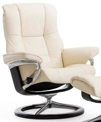 Mayfair Large Reclining Chair with Signature Base by Stressless at Jordan's Home Furnishings