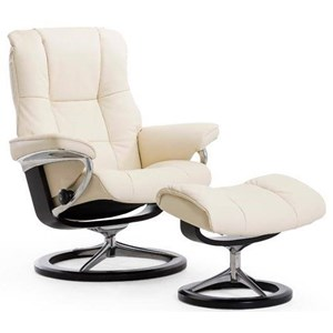 Large Reclining Chair and Ottoman with Signature Base
