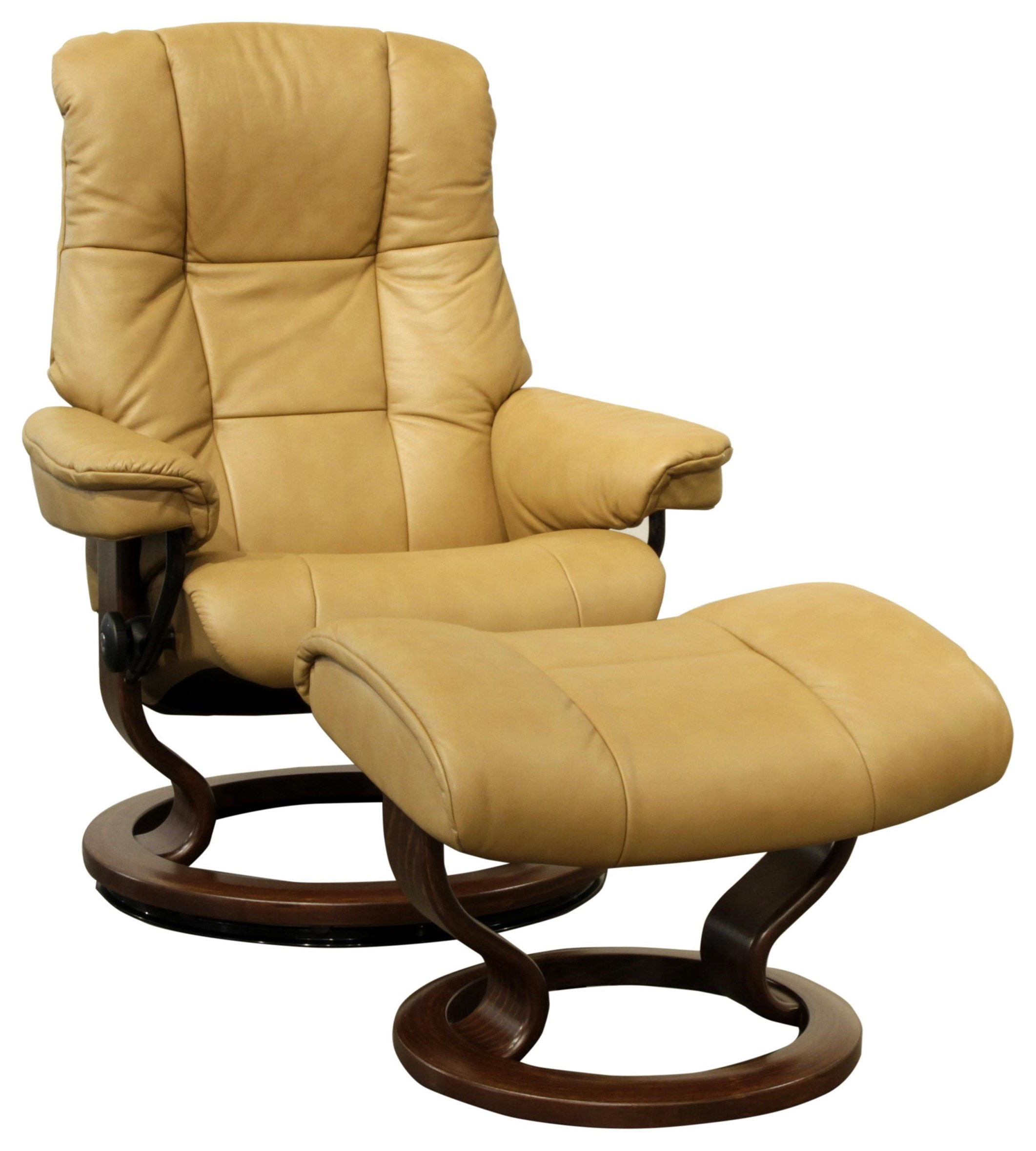 Small Stressless Chair & Ottoman by Stressless at HomeWorld Furniture
