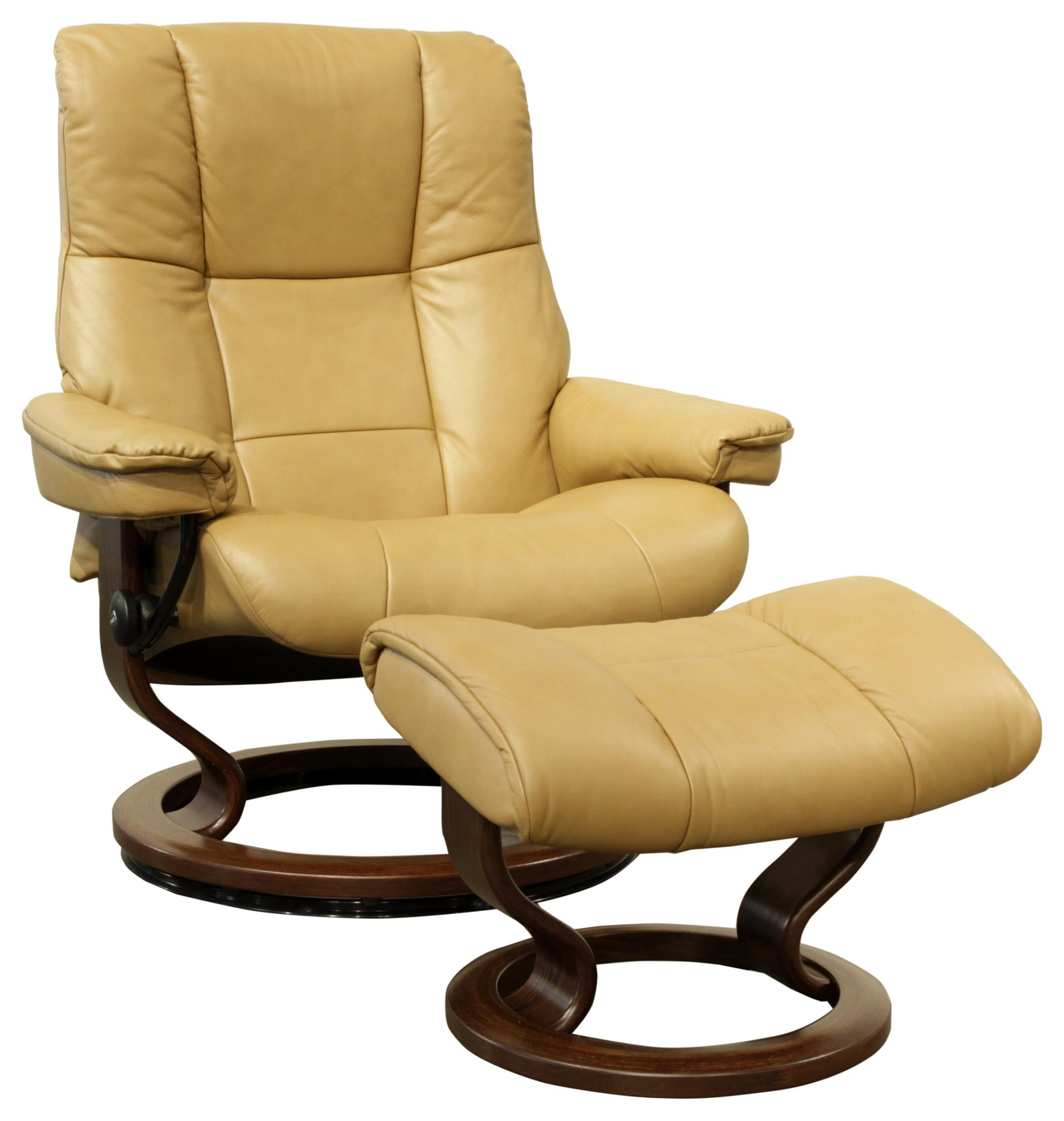 Large Stressless Chair & Ottoman by Stressless at HomeWorld Furniture