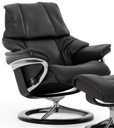 Reno Medium Reclining Chair with Signature Base by Stressless at Jordan's Home Furnishings