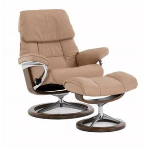 Medium Signature Reclining Chair and Ottoman