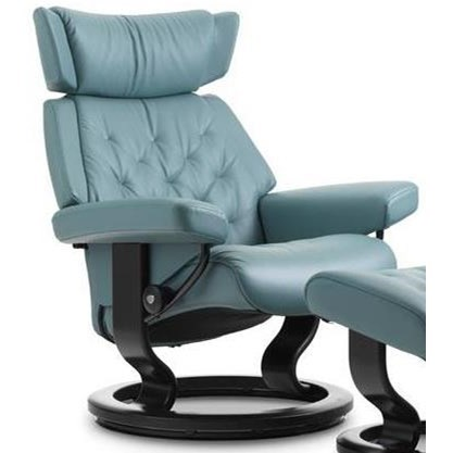 Skyline Small Reclining Chair with Classic Base by Stressless at Jordan's Home Furnishings
