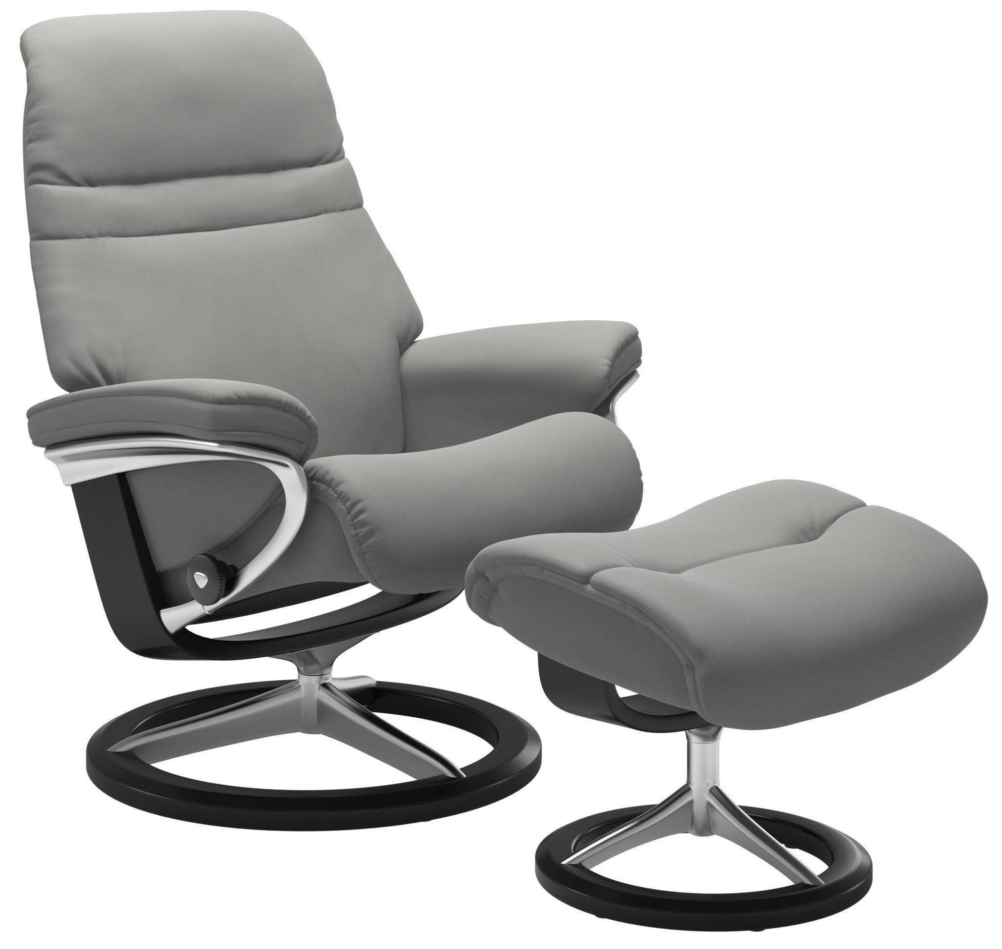 Sunrise Medium Reclining Chair and Ottoman by Stressless at Bennett's Furniture and Mattresses