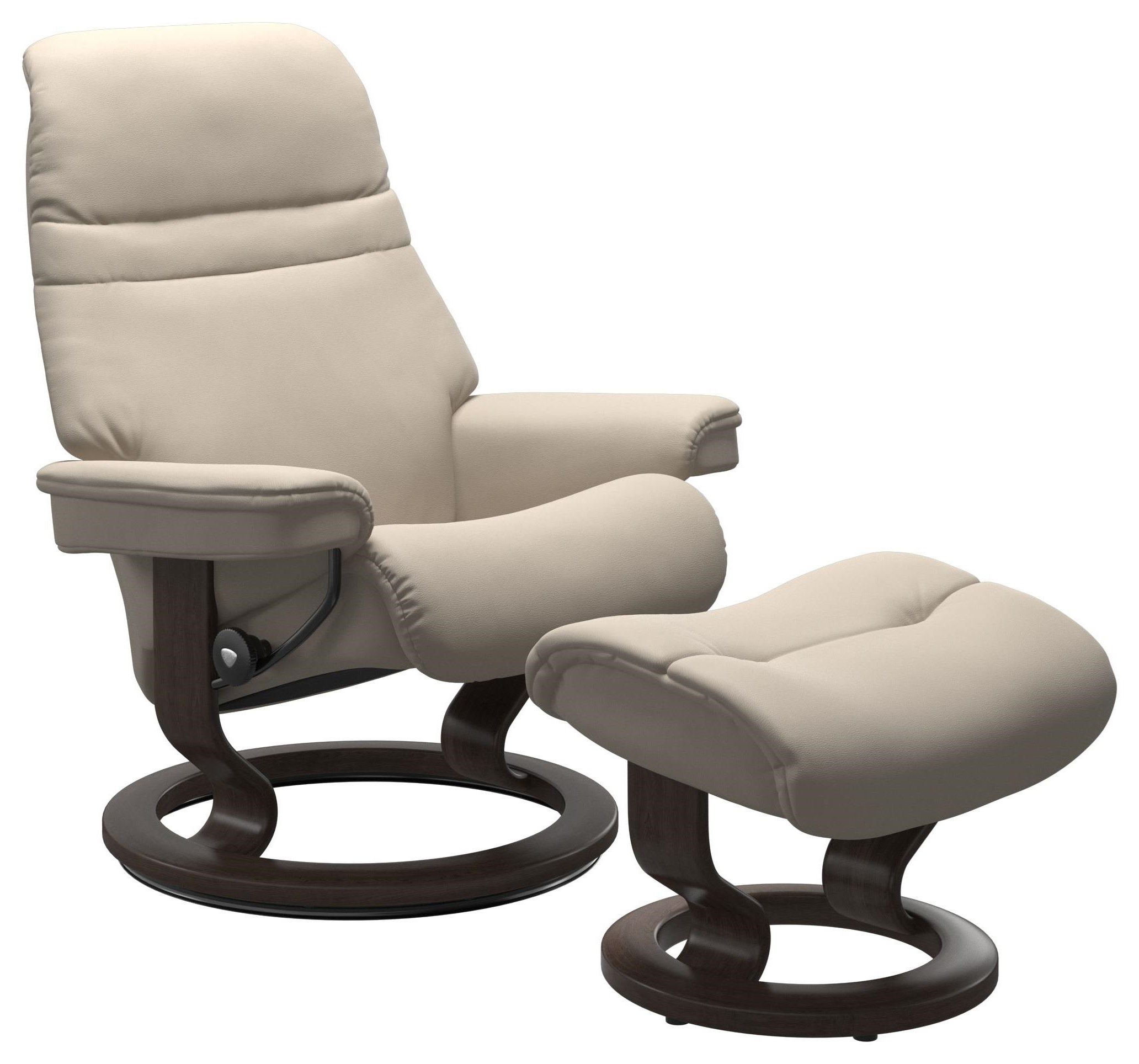 Sunrise Small Chair & Ottoman with Classic Base by Stressless at Bennett's Furniture and Mattresses