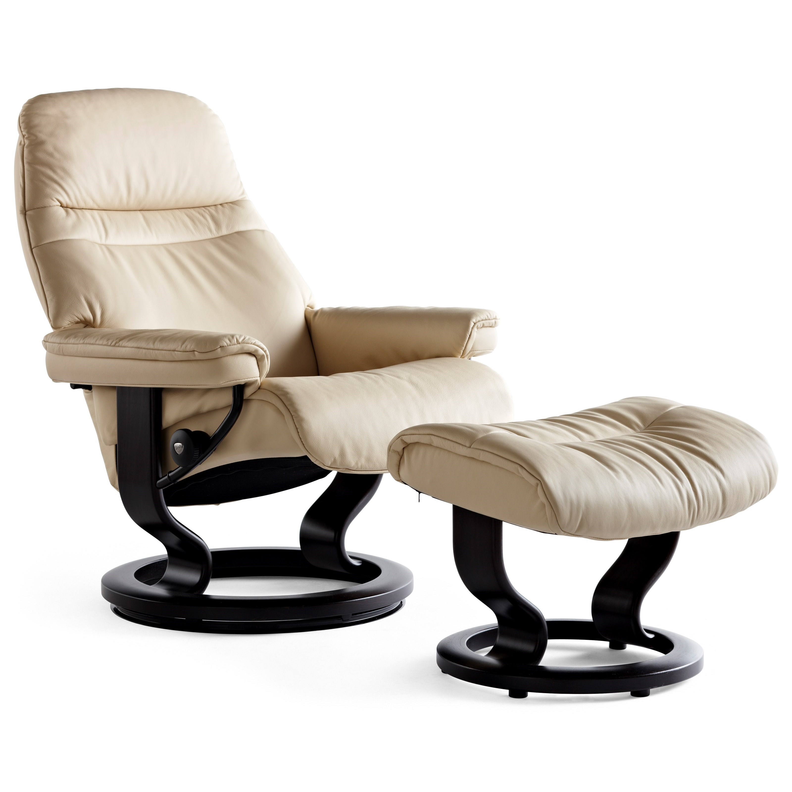Sunrise Medium Chair & Ottoman with Classic Base by Stressless at Virginia Furniture Market