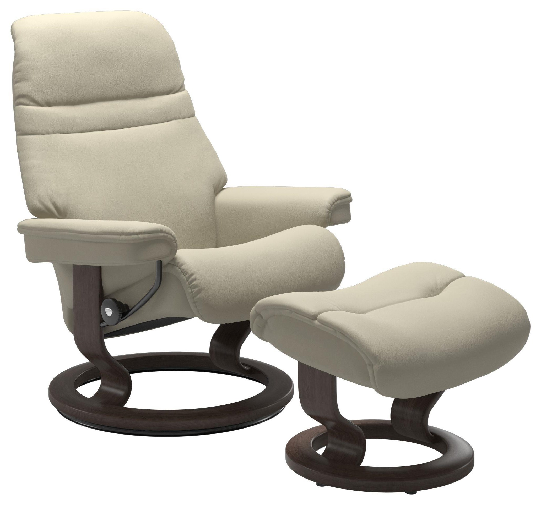 Sunrise Large Chair & Ottoman with Classic Base by Stressless at Upper Room Home Furnishings