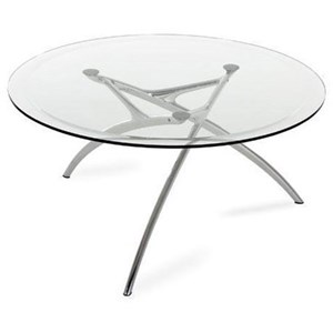 Enigma Table with Round Glass Top