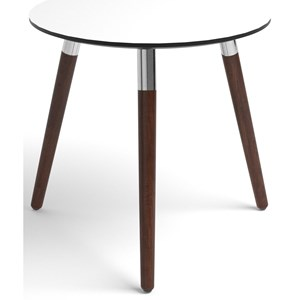 Style Side Table with Round White Top