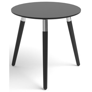 Style Side Table with Round Black Top