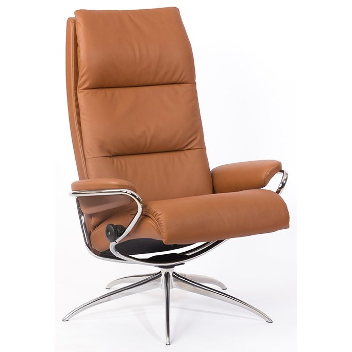 Tokyo High Back Chair with Star Base by Stressless at Virginia Furniture Market