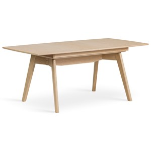 T100 Leg Dining Table with 1 Leaf Insert