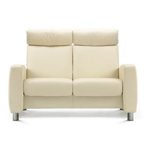 High-Back Reclining 2 Seater Loveseat with Arms