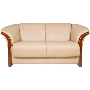 Loveseat with Flared Arms