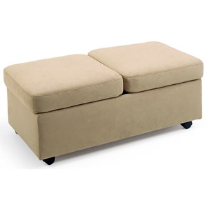 Double Ottoman with Casters