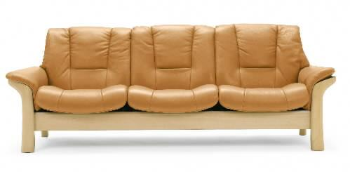 Buckingham Low-Back 3-Seater Reclining Sofa by Stressless at Bennett's Furniture and Mattresses