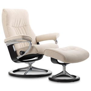 Medium Reclining Chair & Ottoman with Signature Base