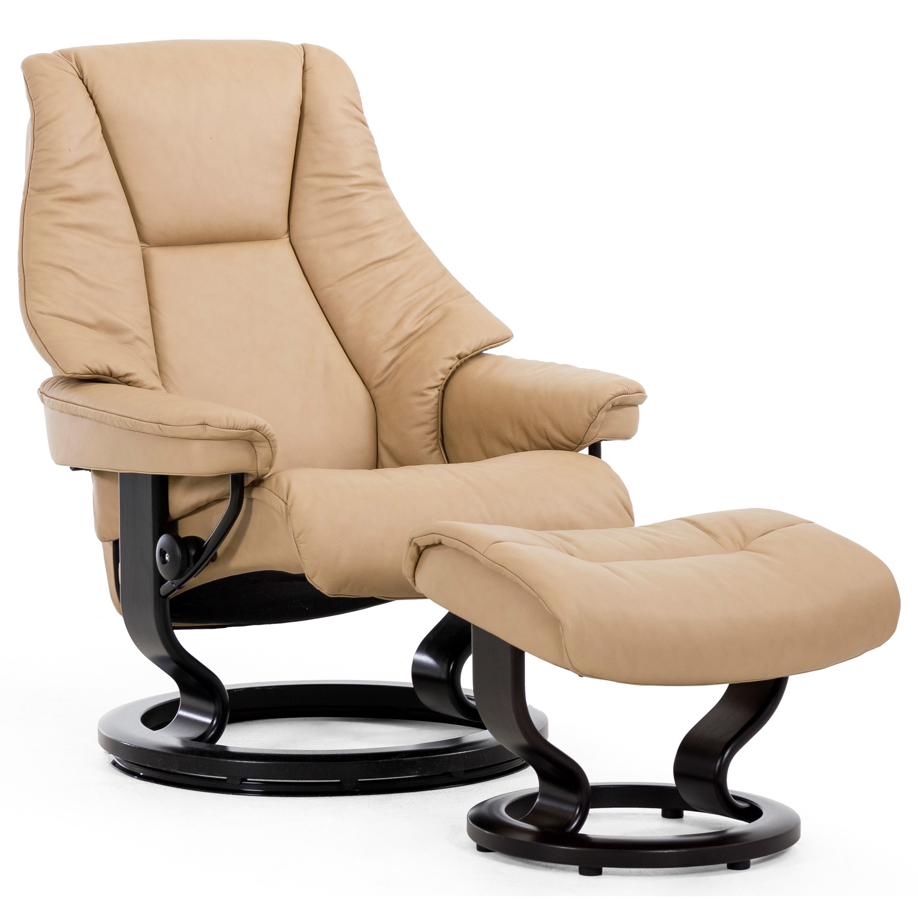 Live Small Chair & Ottoman with Classic Base by Stressless at Bennett's Furniture and Mattresses