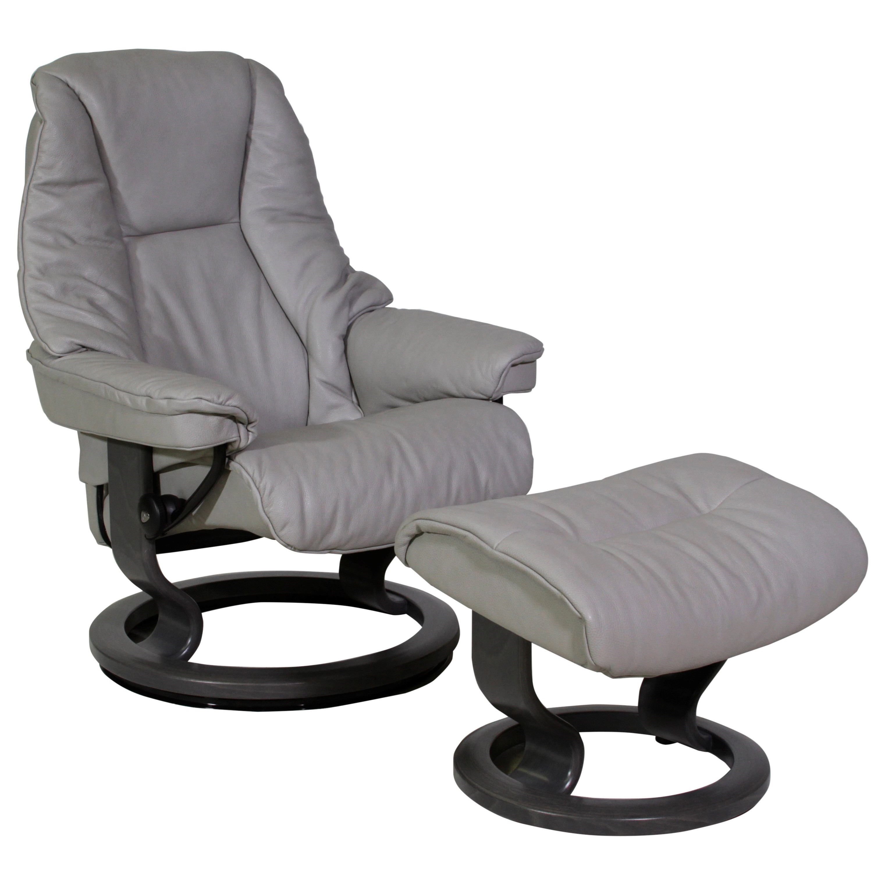 Live Small Chair & Ottoman with Classic Base by Stressless at Virginia Furniture Market