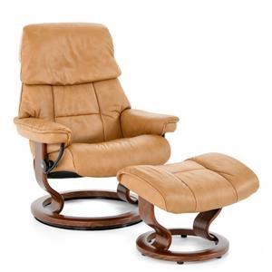 Medium Classic Reclining Chair and Ottoman