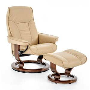 Medium Classic Reclining Chair and Ottoman