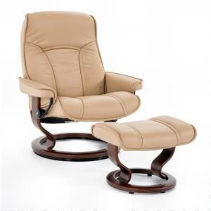 Large Classic Reclining Chair and Ottoman