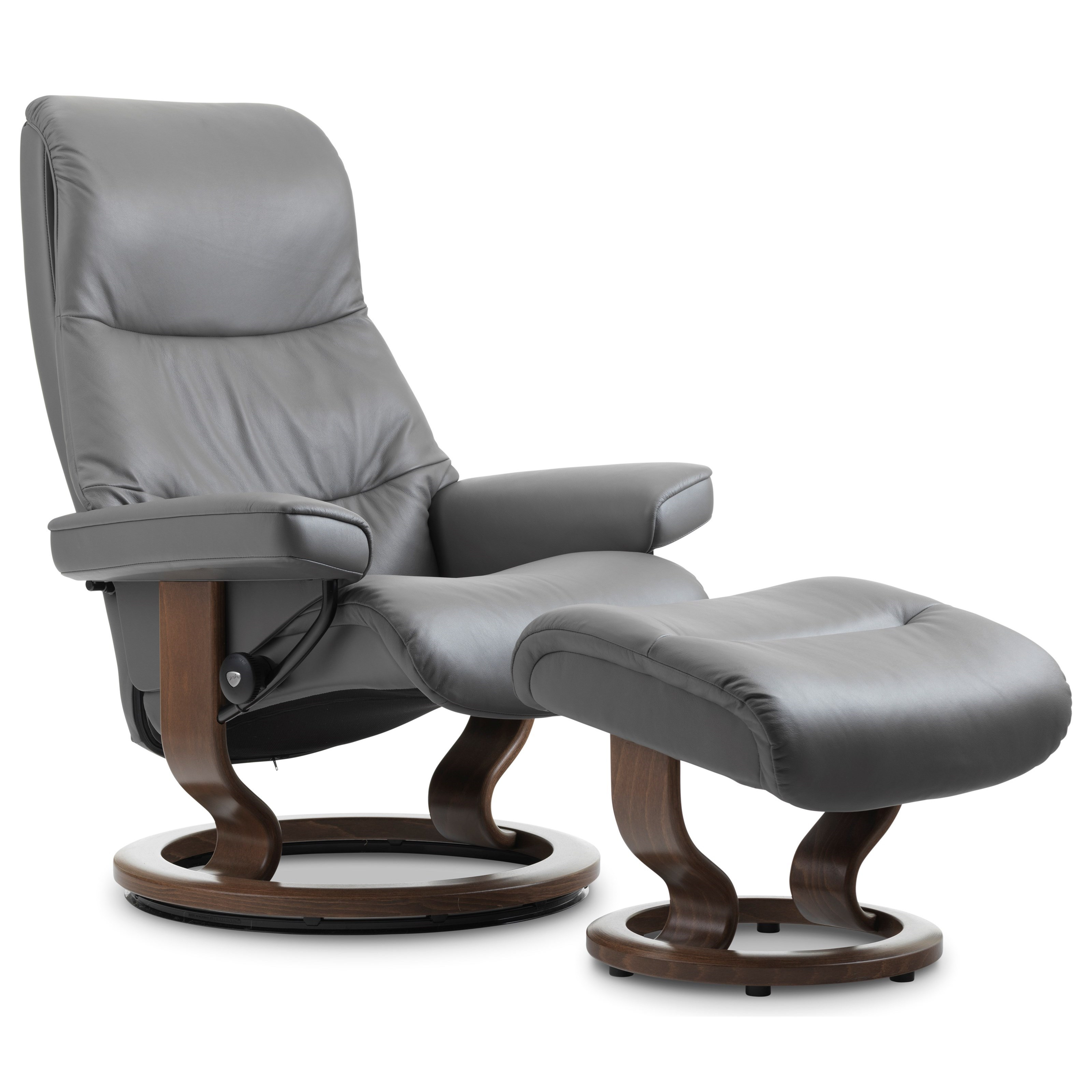 View Medium Chair & Ottoman with Classic Base by Stressless at Jordan's Home Furnishings
