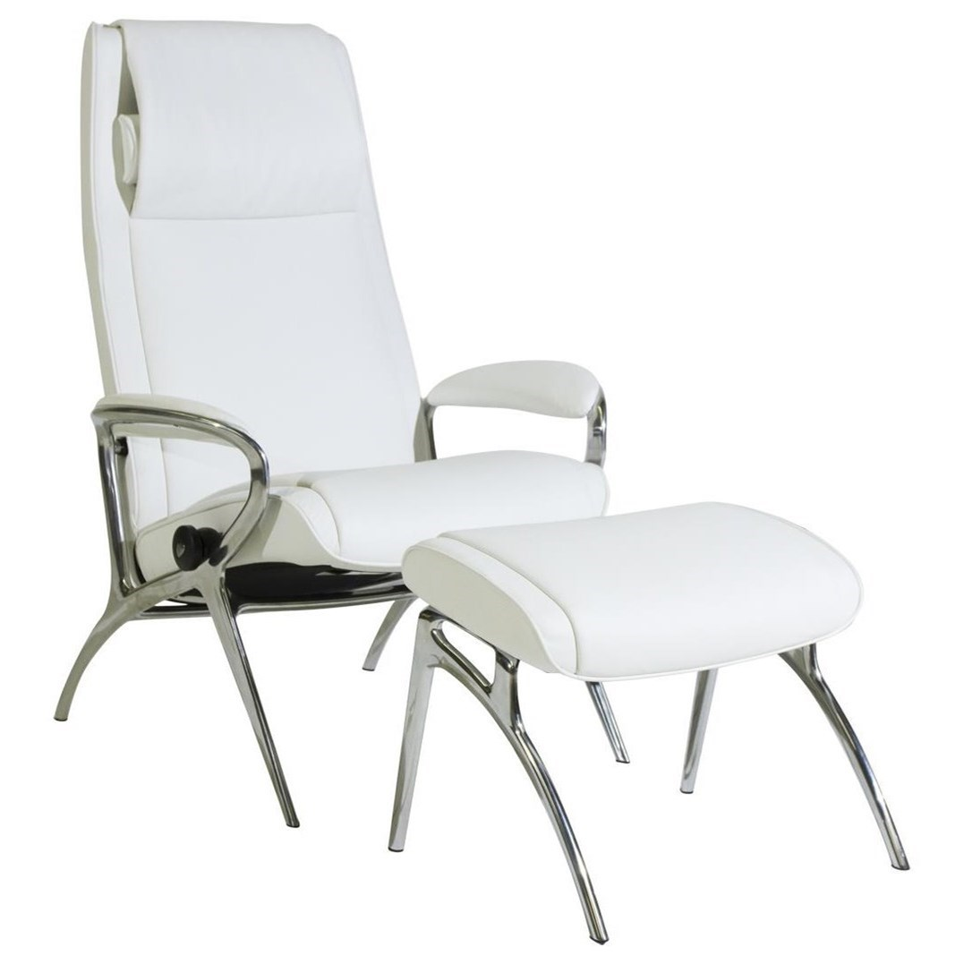 Stressless You James Chair & Ottoman with Aluminum Base by Stressless at Jordan's Home Furnishings