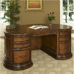 Traditional Double Pedestal Executive Desk with Power Well